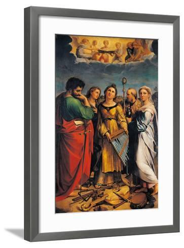 St Cecilia with Sts Paul- John the Evangelist-Framed Art Print