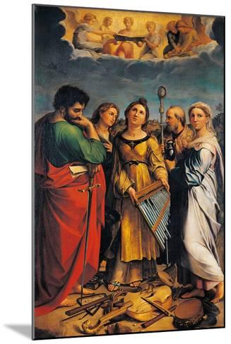 St Cecilia with Sts Paul- John the Evangelist-Mounted Giclee Print