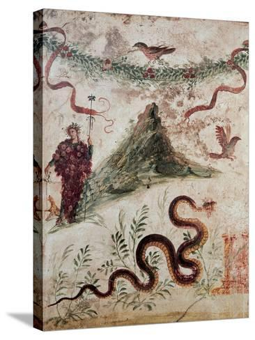 Bacchus and the Vesuvius, 79, 1st Century, Mural (Fresco)--Stretched Canvas Print