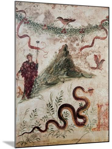 Bacchus and the Vesuvius, 79, 1st Century, Mural (Fresco)--Mounted Giclee Print