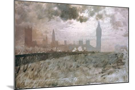 Study of Westminster Bridge (Studio Per Westminster Bridge)-Giuseppe De Nittis-Mounted Giclee Print