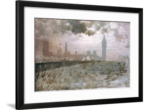Study of Westminster Bridge (Studio Per Westminster Bridge)-Giuseppe De Nittis-Framed Art Print