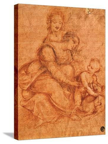Madonna and Child with St Anne-Cesare da Sesto-Stretched Canvas Print