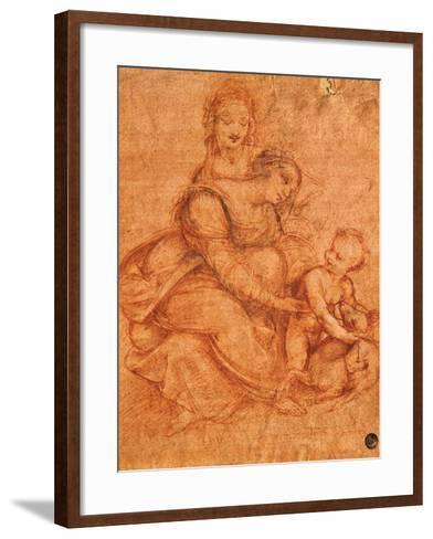 Madonna and Child with St Anne-Cesare da Sesto-Framed Art Print