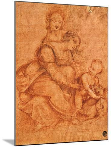 Madonna and Child with St Anne-Cesare da Sesto-Mounted Giclee Print