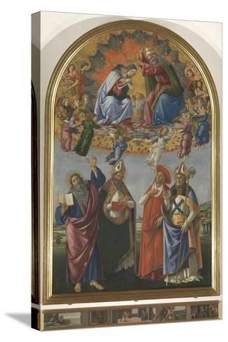The Coronation of the Virgin with St John the Evangelist-Sandro Botticelli-Stretched Canvas Print
