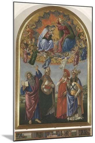 The Coronation of the Virgin with St John the Evangelist-Sandro Botticelli-Mounted Giclee Print