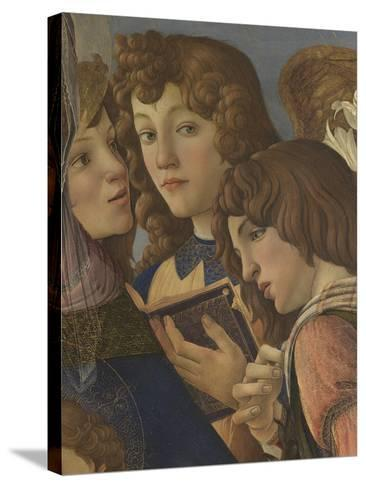 Virgin and Child with Six Angels (Madonna of the Pomegranate)-Sandro Botticelli-Stretched Canvas Print
