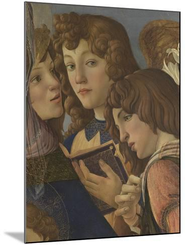 Virgin and Child with Six Angels (Madonna of the Pomegranate)-Sandro Botticelli-Mounted Giclee Print
