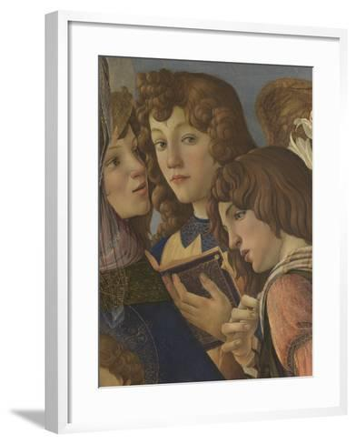 Virgin and Child with Six Angels (Madonna of the Pomegranate)-Sandro Botticelli-Framed Art Print