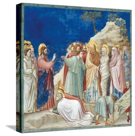 Stories of Christ the Raising of Lazarus-Giotto di Bondone-Stretched Canvas Print