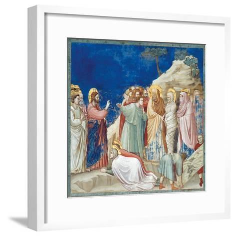 Stories of Christ the Raising of Lazarus-Giotto di Bondone-Framed Art Print