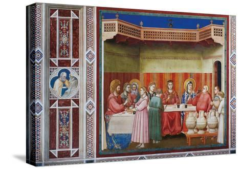Stories of Christ the Wedding at Cana Or the Marriage Feast at Cana-Giotto di Bondone-Stretched Canvas Print