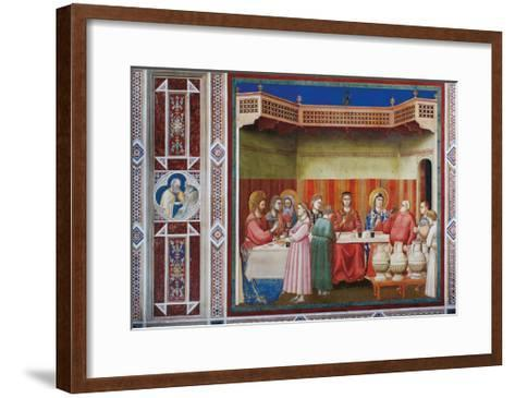 Stories of Christ the Wedding at Cana Or the Marriage Feast at Cana-Giotto di Bondone-Framed Art Print