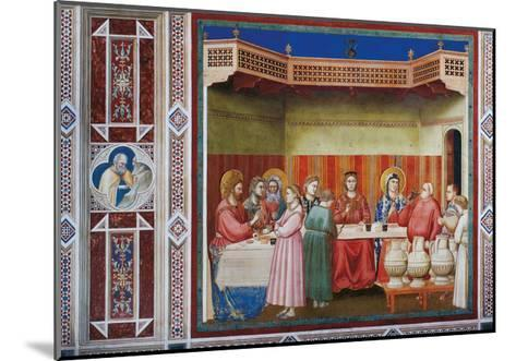 Stories of Christ the Wedding at Cana Or the Marriage Feast at Cana-Giotto di Bondone-Mounted Giclee Print