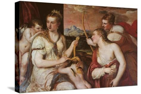 The Punishment of Cupid (Venus Blindfolding Cupid)-Titian (Tiziano Vecelli)-Stretched Canvas Print