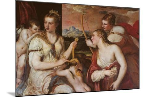 The Punishment of Cupid (Venus Blindfolding Cupid)-Titian (Tiziano Vecelli)-Mounted Giclee Print