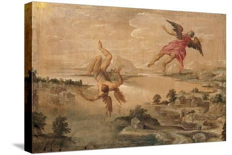 Icarus' Fall--Stretched Canvas Print