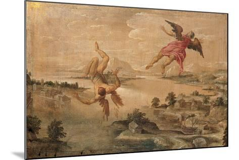 Icarus' Fall--Mounted Giclee Print