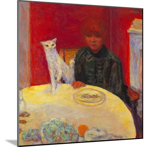 Woman with a Cat-Pierre Bonnard-Mounted Giclee Print