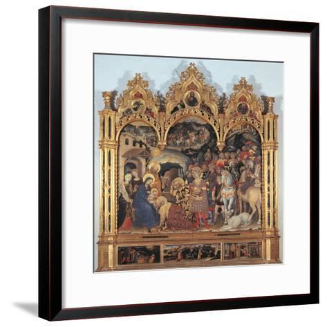 Altarpiece with the Adoration of the Magi-Gentile di Niccol (Fabriano)-Framed Art Print