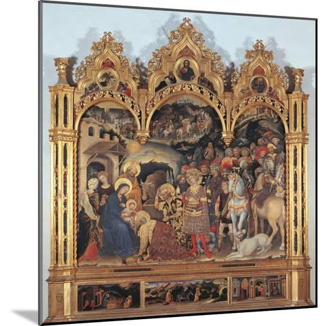 Altarpiece with the Adoration of the Magi-Gentile di Niccol (Fabriano)-Mounted Giclee Print