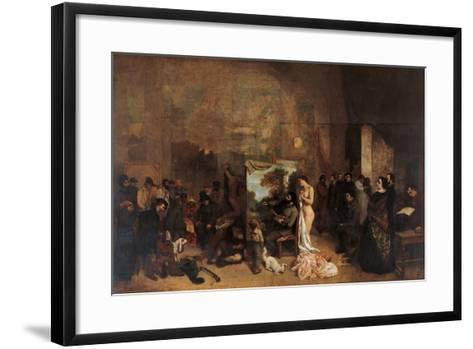 The Artists Studio-Gustave Courbet-Framed Art Print