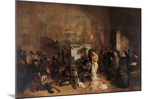 The Artists Studio-Gustave Courbet-Mounted Giclee Print