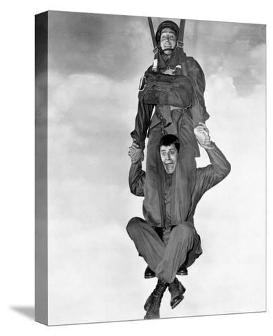 Jerry Lewis and Dean Martin in Jumping Jacks--Stretched Canvas Print