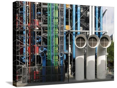 Pompidou Center in Paris-Ove Arup and Partners-Stretched Canvas Print