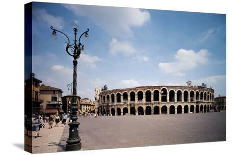 The Arena Or Roman Amphitheatre in Verona, 1st Century, Marble and Brick--Stretched Canvas Print