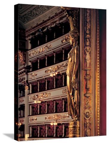 Views of the Teatro Alla Scala-Piermarini Giuseppe-Stretched Canvas Print