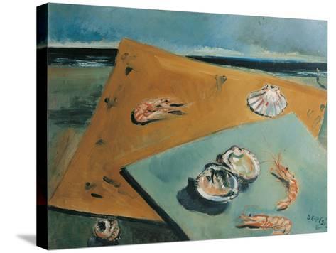 Marine Still Life with Scampi-Filippo De Pisis-Stretched Canvas Print