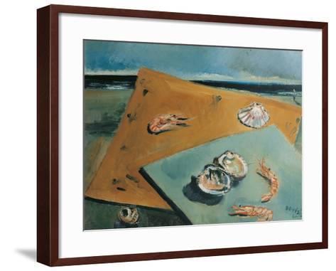 Marine Still Life with Scampi-Filippo De Pisis-Framed Art Print