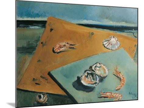 Marine Still Life with Scampi-Filippo De Pisis-Mounted Giclee Print