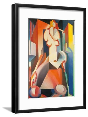 Female Structure-Enrico Prampolini-Framed Art Print