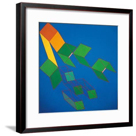 Dissipative Structures-Achille Perilli-Framed Art Print