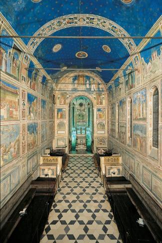 Fresco Cycle in the Scrovegni Chapel-Giotto di Bondone-Stretched Canvas Print