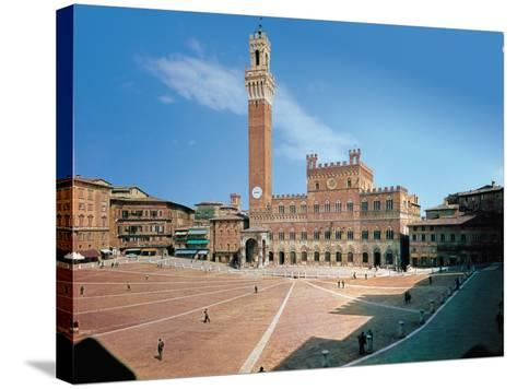 Piazza Del Campo, Siena--Stretched Canvas Print