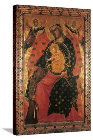 Madonna and Child with Two Votaries-Paolo Veneziano-Stretched Canvas Print