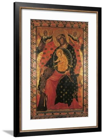 Madonna and Child with Two Votaries-Paolo Veneziano-Framed Art Print