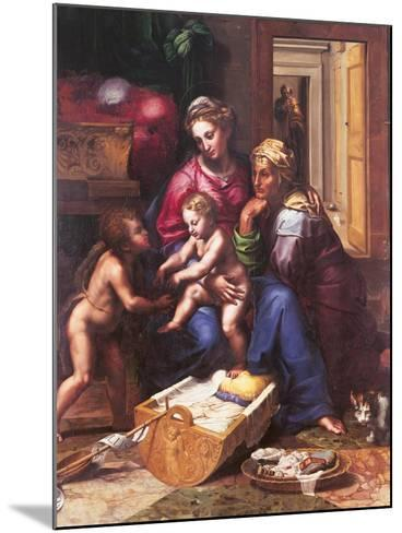 Madonna of the Cat-Giulio Romano-Mounted Giclee Print