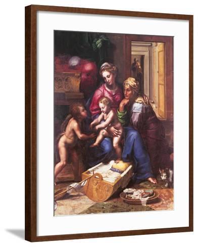 Madonna of the Cat-Giulio Romano-Framed Art Print