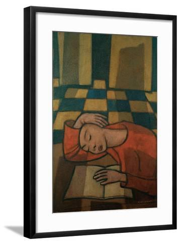Sleeping Girl-Casorati Felice-Framed Art Print