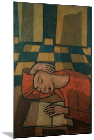 Sleeping Girl-Casorati Felice-Mounted Giclee Print