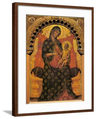 Madonna with Child Enthroned-Paolo Veneziano-Framed Art Print