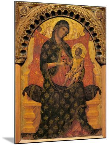 Madonna with Child Enthroned-Paolo Veneziano-Mounted Giclee Print
