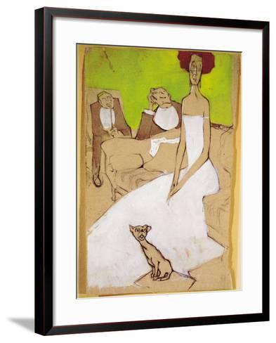 In the Living Room (In Salotto)-Ugo Valeri-Framed Art Print