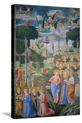 Frescoes of the Chapel of the Magi-Benozzo Gozzoli-Stretched Canvas Print