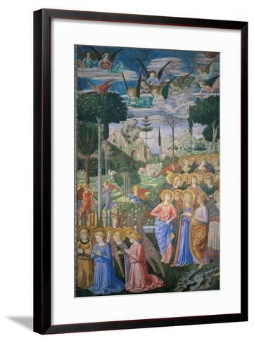 Frescoes of the Chapel of the Magi-Benozzo Gozzoli-Framed Art Print